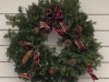 Decorated Fresh Christmas Wreaths - Burgandy Bow with Pine Cones