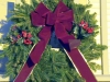 Decorated Fresh Christmas Wreaths - Burgundy