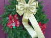 Decorated Fresh Christmas Wreaths - Gold