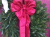 Decorated Fresh Christmas Wreaths - Medium Red