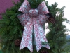 Decorated Fresh Christmas Wreaths - White-Red with PInecones