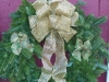 Decorated Fresh Christmas Wreaths - Gold Lace