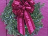 Decorated Fresh Christmas Wreaths - Burgundy Two Tone
