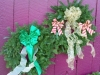 Decorated Fresh Christmas Wreaths - Gold and Green
