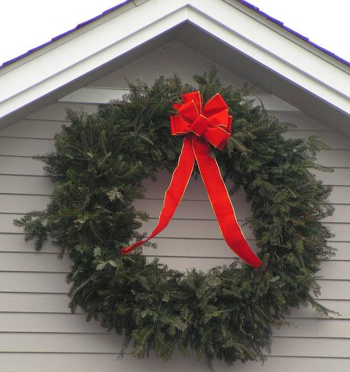 permanent - Large Outdoor Christmas Wreath
